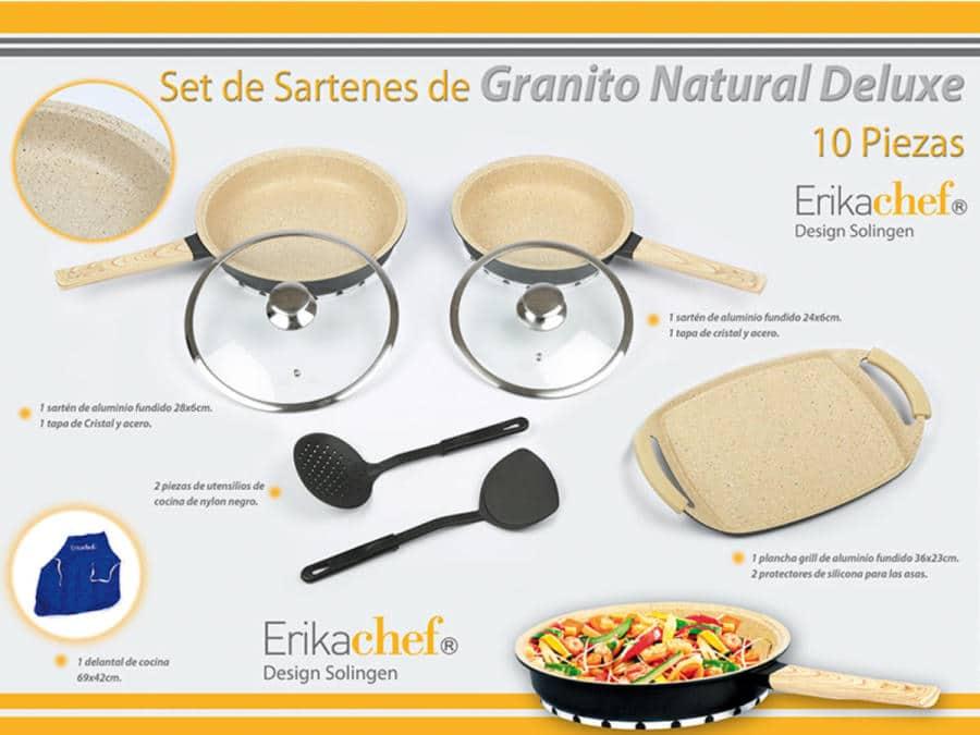 set sartens granito natural